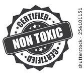 black non toxic certified icon  ... | Shutterstock . vector #256101151