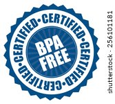 blue bpa free certified icon ... | Shutterstock . vector #256101181