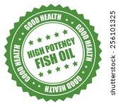 green high potency fish oil... | Shutterstock . vector #256101325