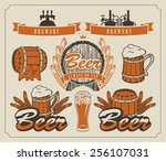 set of design elements and... | Shutterstock .eps vector #256107031