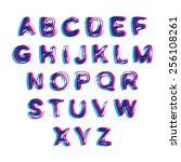 blot vector alphabet | Shutterstock .eps vector #256108261