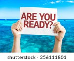 Are You Ready  Card With Beach...