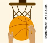 basketball sport design  vector ... | Shutterstock .eps vector #256116385
