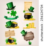 set of st. patrick's day... | Shutterstock .eps vector #256124734