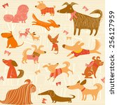 vector background with dogs   Shutterstock .eps vector #256127959
