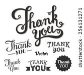 thank you set.  vector.  | Shutterstock .eps vector #256131271