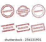 fashion stamps | Shutterstock .eps vector #256131901