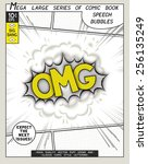 omg. explosion in comic style... | Shutterstock .eps vector #256135249