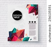 stylish design template with... | Shutterstock .eps vector #256135351