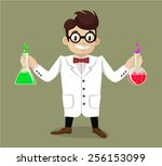 vector flat scientist...