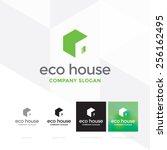 eco house logo template  ... | Shutterstock .eps vector #256162495