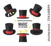 Magic Hat Set. Vector...