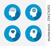 Head With Brain And Idea Lamp...