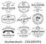 Black On White Seafood Labels...