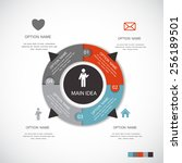 infographic templates for... | Shutterstock .eps vector #256189501