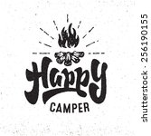 'happy Camper' Vintage Hand...