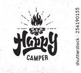 'happy Camper' Vintage Hand...