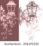 spring season street light...   Shutterstock . vector #256191535