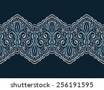 decorative seamless lace pattern | Shutterstock .eps vector #256191595