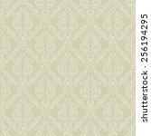 seamless vintage vector... | Shutterstock .eps vector #256194295