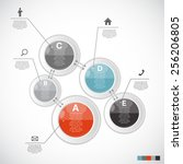 infographic templates for... | Shutterstock .eps vector #256206805