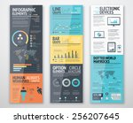 infographic templates in well... | Shutterstock .eps vector #256207645