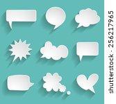 set of paper speech bubbles | Shutterstock .eps vector #256217965