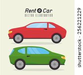 rent a car design  vector... | Shutterstock .eps vector #256221229