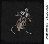 biker theme grunge label with...   Shutterstock .eps vector #256222039