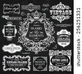 vector vintage collection ... | Shutterstock .eps vector #256251331