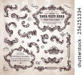 vector vintage collection ... | Shutterstock .eps vector #256251334