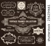 vector vintage collection ... | Shutterstock .eps vector #256254661