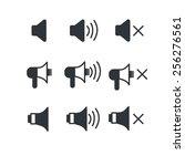 speaker icons | Shutterstock .eps vector #256276561