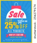 limited time sale with flat... | Shutterstock .eps vector #256279174