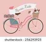 vector retro poster on picnic...