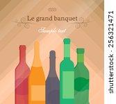 vector background  banner.... | Shutterstock .eps vector #256321471
