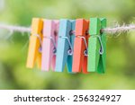 Wooden Clothespin Hanging On...
