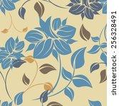 succulent plants seamless...   Shutterstock .eps vector #256328491