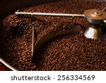 roasting process of coffee.... | Shutterstock . vector #256334569