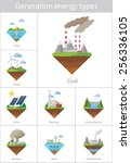 power plant icon vector set | Shutterstock .eps vector #256336105