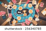 business people playing... | Shutterstock .eps vector #256340785