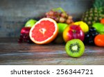 fruits all together | Shutterstock . vector #256344721