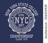 college sport new york ... | Shutterstock .eps vector #256354939