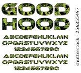 decorative font   green... | Shutterstock .eps vector #256355497