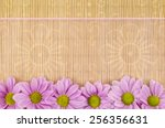 Wood  Wicker Background With...