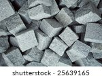 granite cobblestone block   Shutterstock . vector #25639165