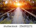 Small Bridge Over River In...
