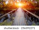 Small Bridge Over River In...