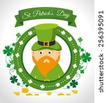 st patricks day card design ... | Shutterstock .eps vector #256395091