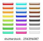 set of colorful 3d plastic web... | Shutterstock . vector #256396087
